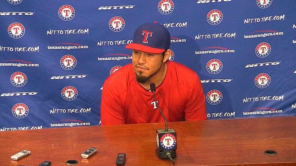 Gallardo emocionado en Texas