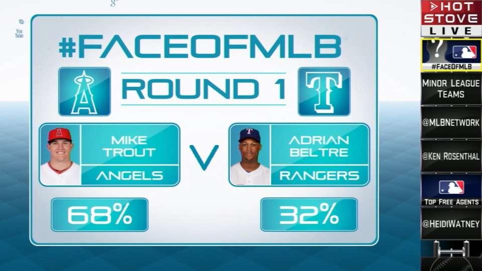 Face of MLB Trout vs. Beltre