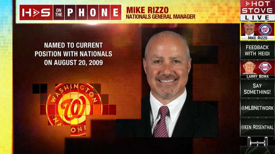 Rizzo calls in to Hot Stove