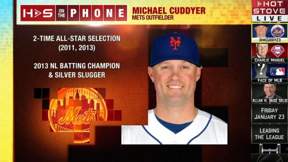 Cuddyer calls into Hot Stove