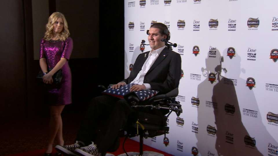 Pete Frates honored by BBWAA