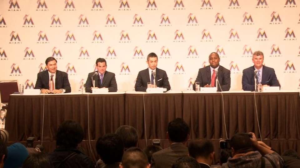 Marlins introduce Ichiro