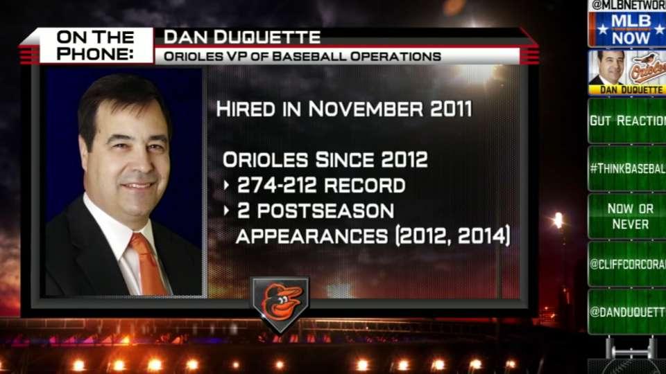 Dan Duquette on O's offseason