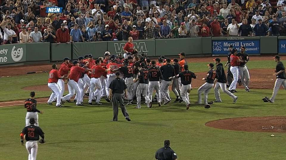 Benches clear at Fenway