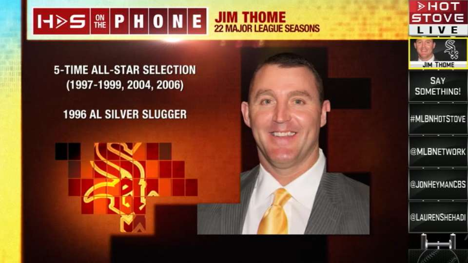 Thome phones in to Hot Stove
