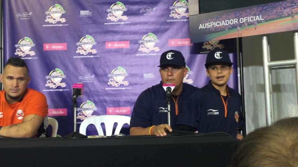 Rueda de prensa con Arcia, Lopez