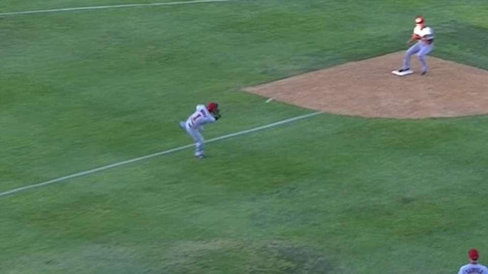 Wong starts the double play
