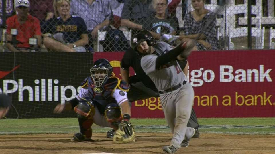 De San Miguel's two-run double