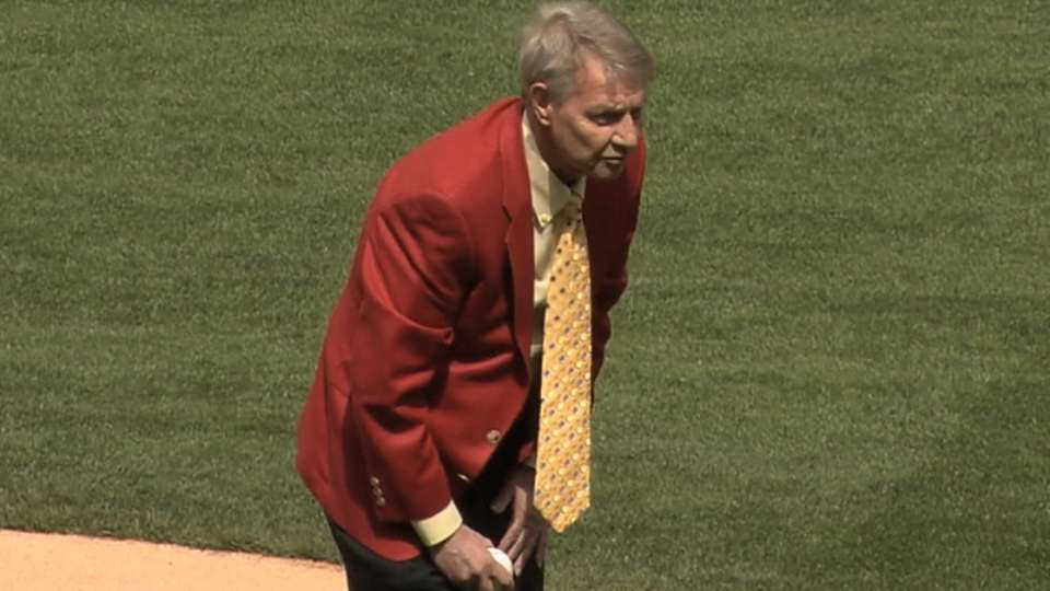 Kalas throws out first pitch