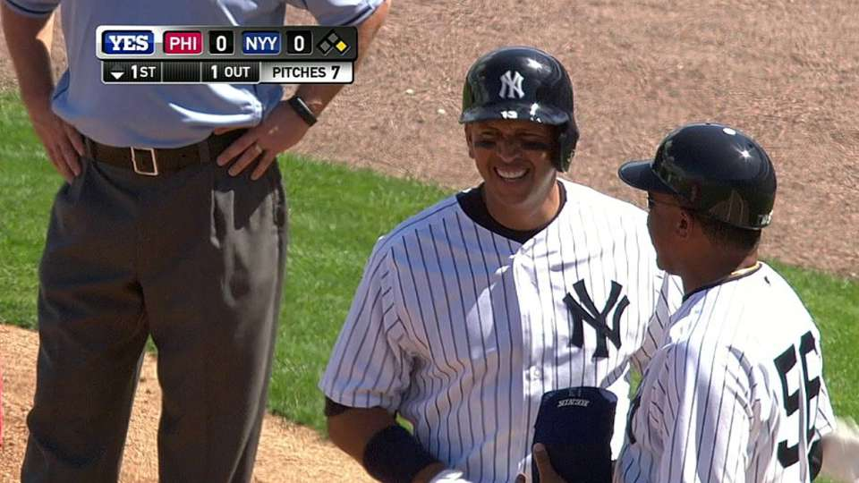 A-Rod singles in spring debut