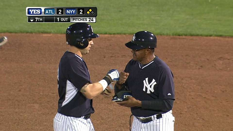 Cave's RBI ground-rule double