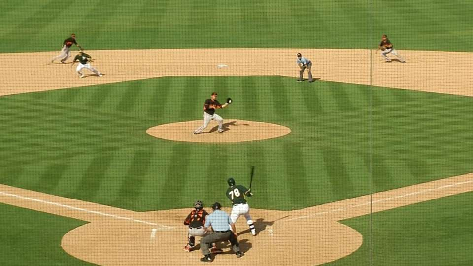 Bochy starts the double play