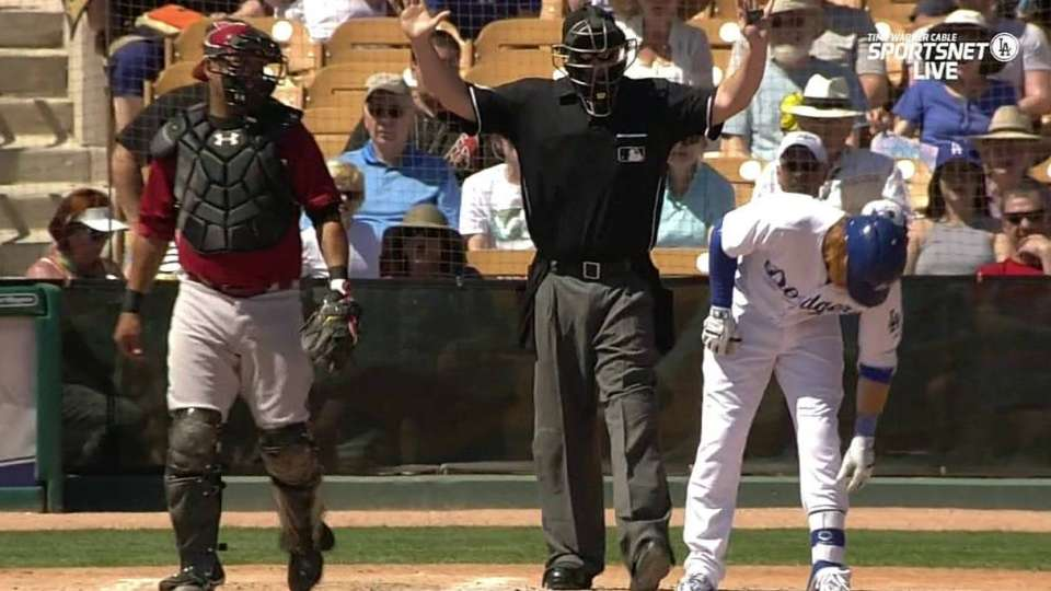 Turner gets hit by a pitch