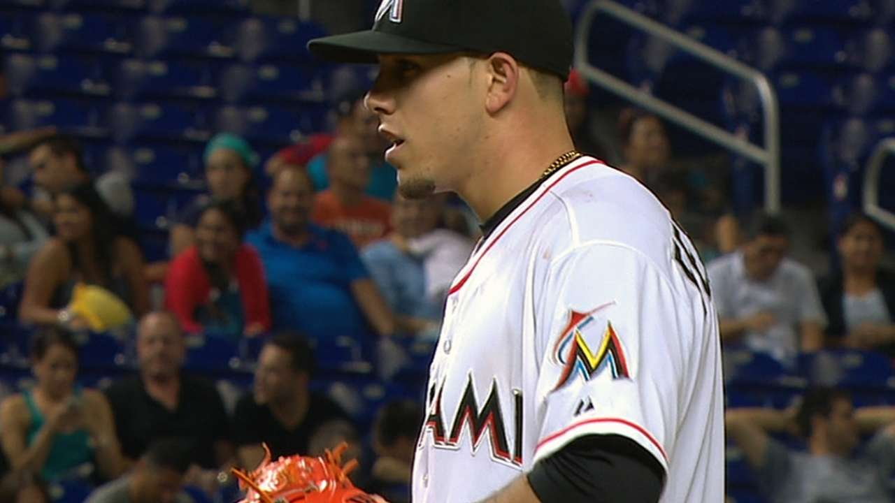 Jose Fernandez of the Marlins wins top pitching performance in ... 1d0ee45e5