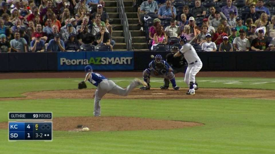 Guthrie strikes out Middlebrooks