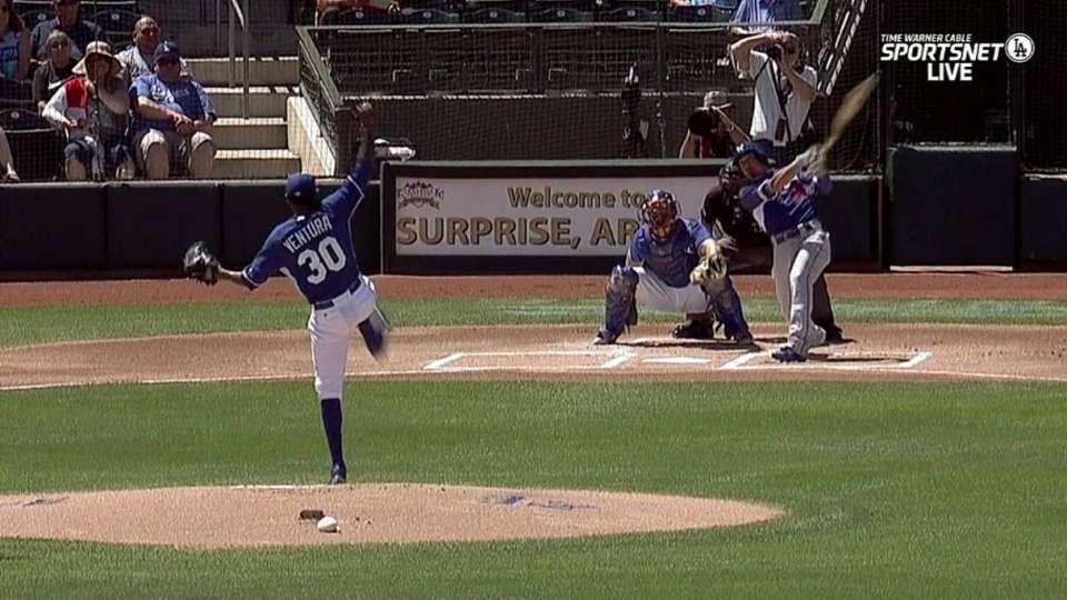 Barney's leadoff triple