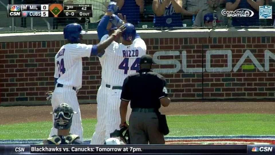 Rizzo's three-run homer