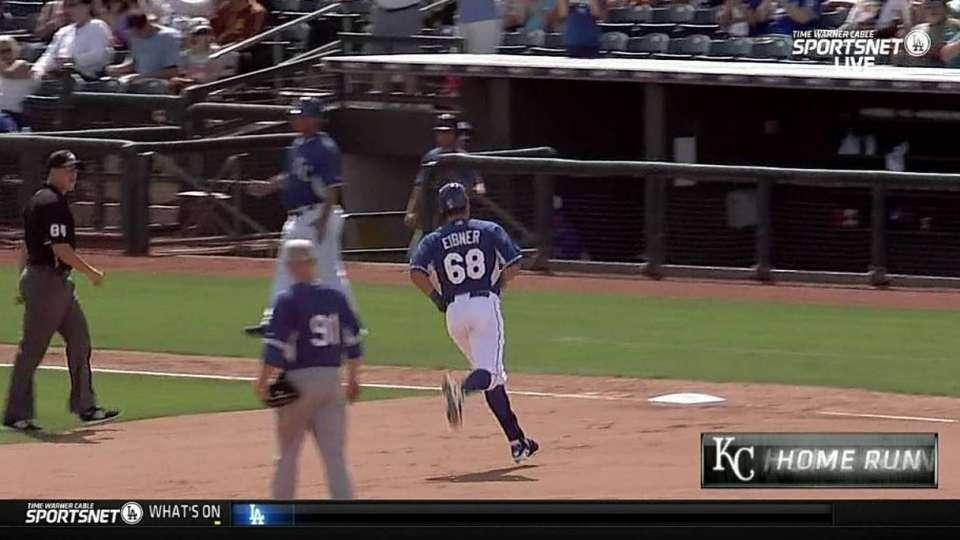 Eibner's solo home run