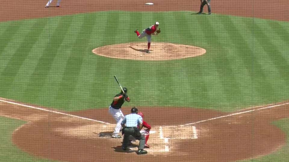 Morse's three-run home run