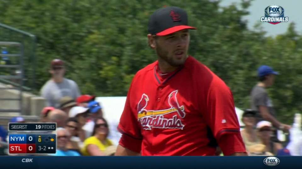 Siegrist strikes out the side