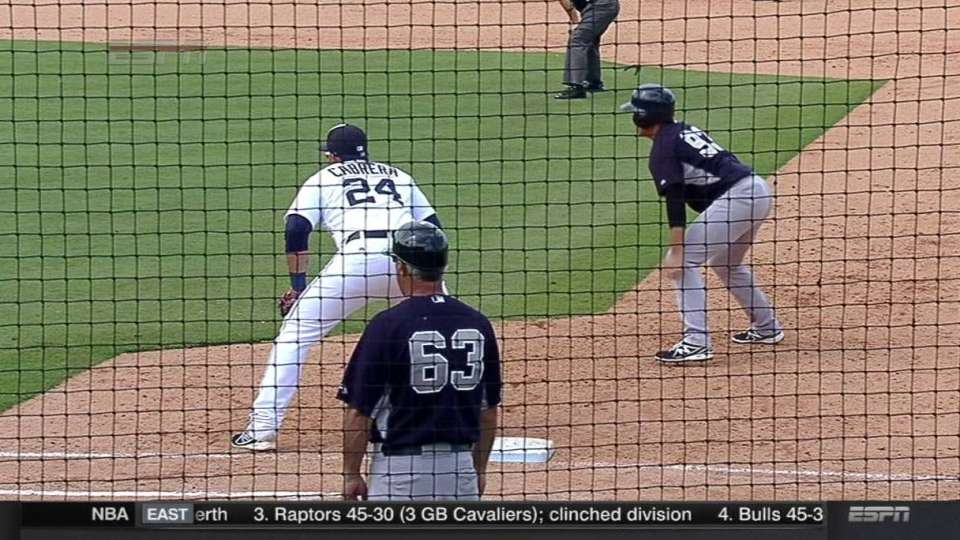 Dolis earns save with pickoff