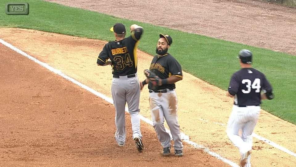 A.J. knocks off Alvarez's cap