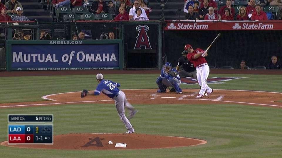 Trout's solo home run