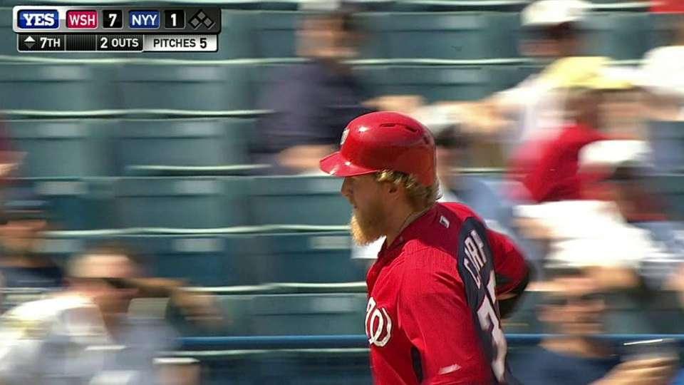 Carp's three-run homer