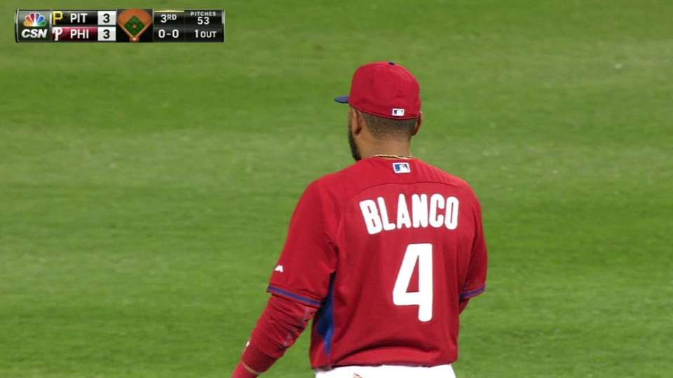 Blanco's leaping catch