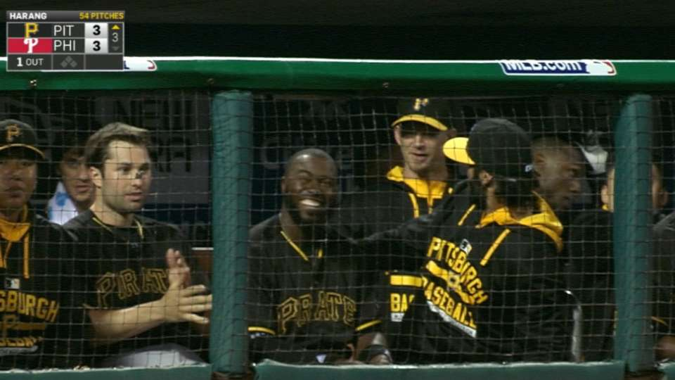 Hurdle on the Pirates' roster