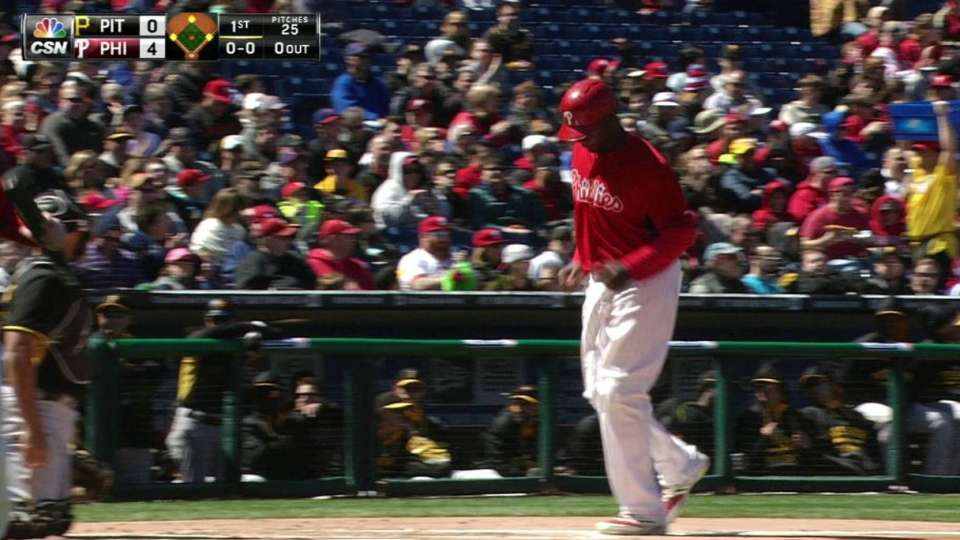 Asche's bases-loaded walk