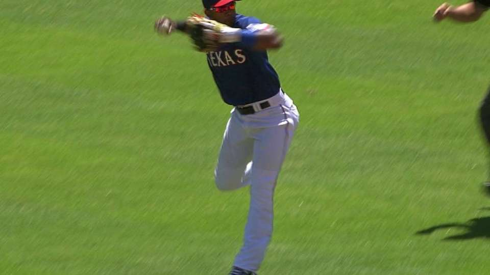 Andrus snags grounder