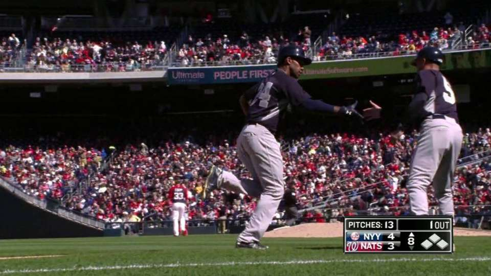 Young's two-run home run