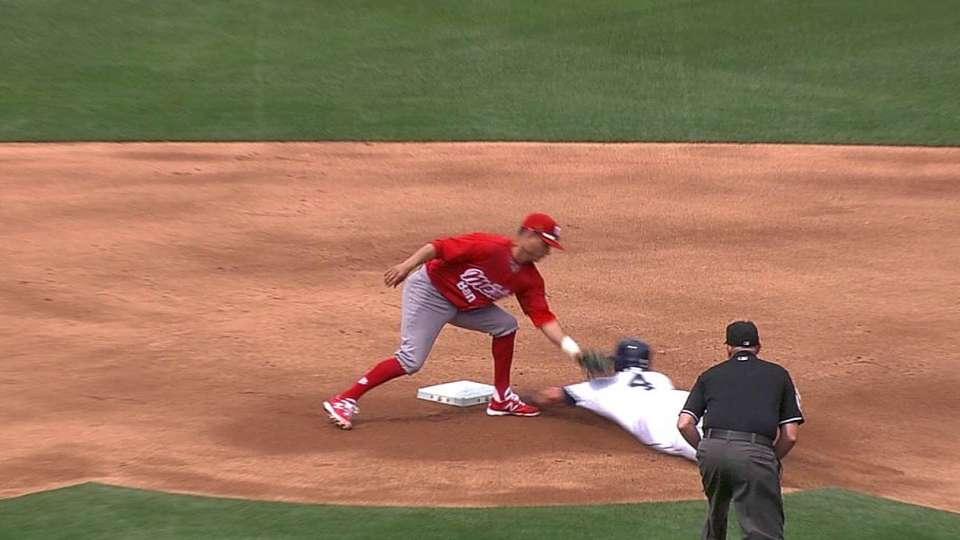 Castillo picks off Myers