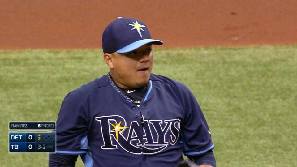 Rays on pitching versus Tigers