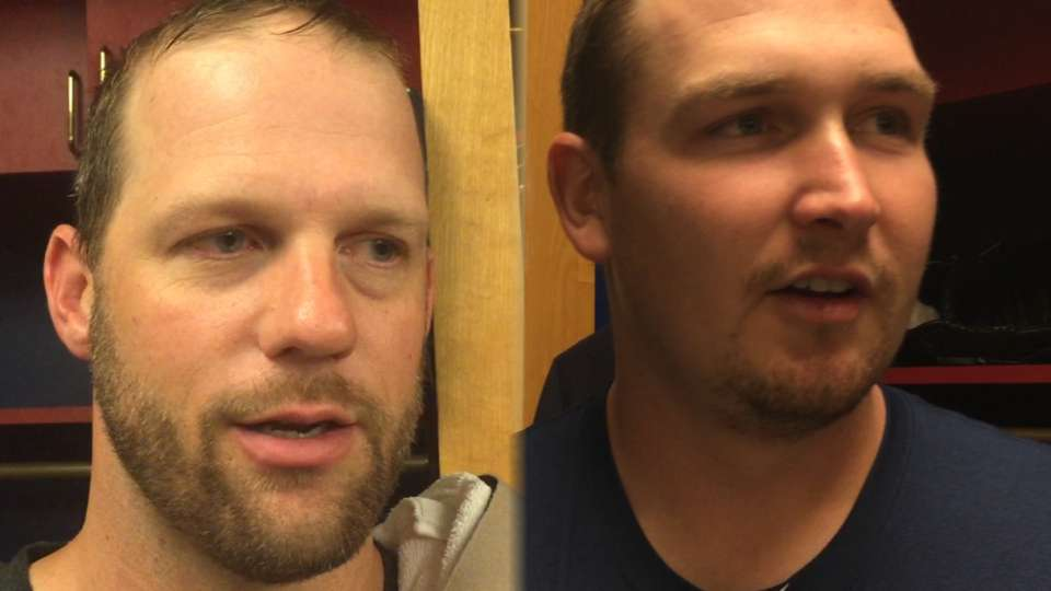 Cahill, Stults on making roster