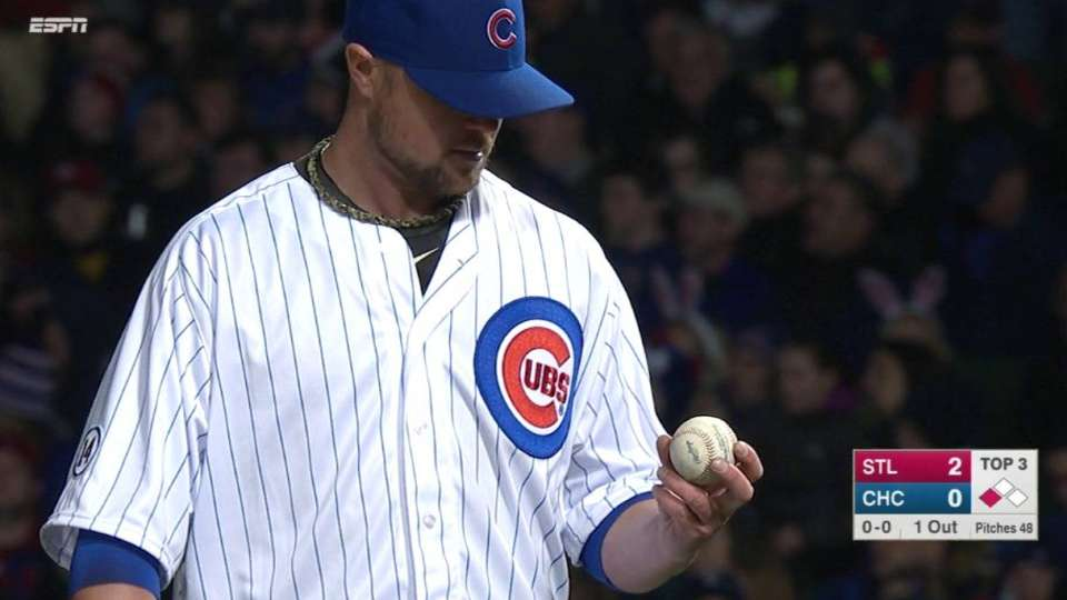 Lester gets out at first