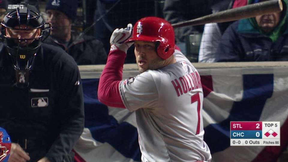 Holliday's second RBI single