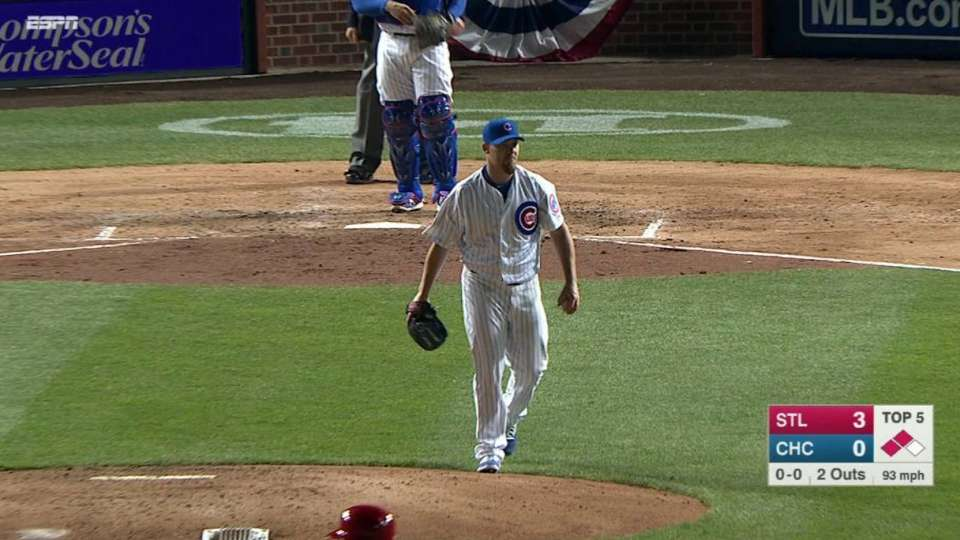 Coke's first Cubs strikeout