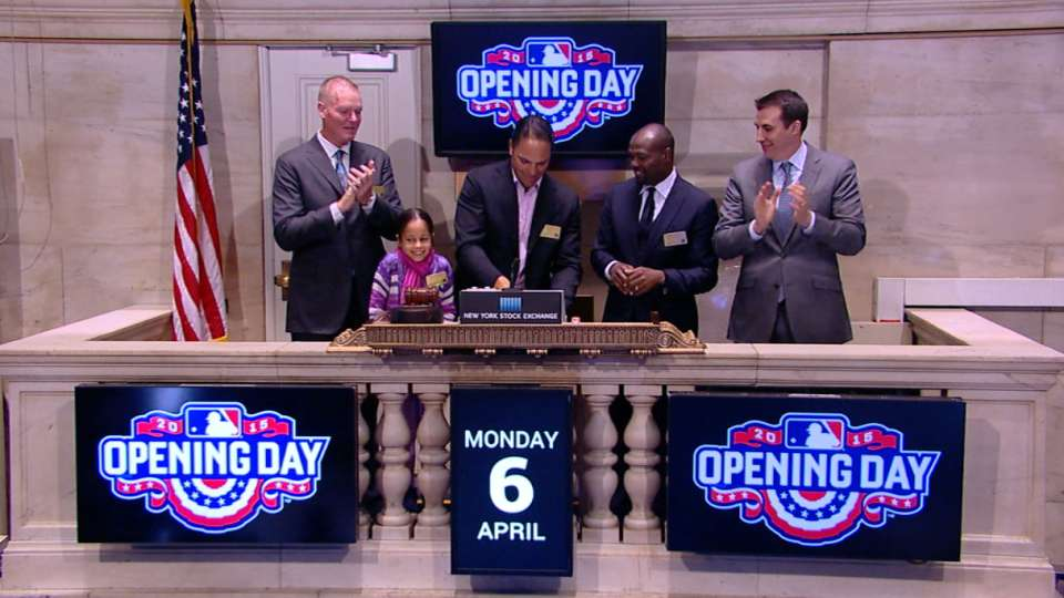 Former players ring Opening Bell