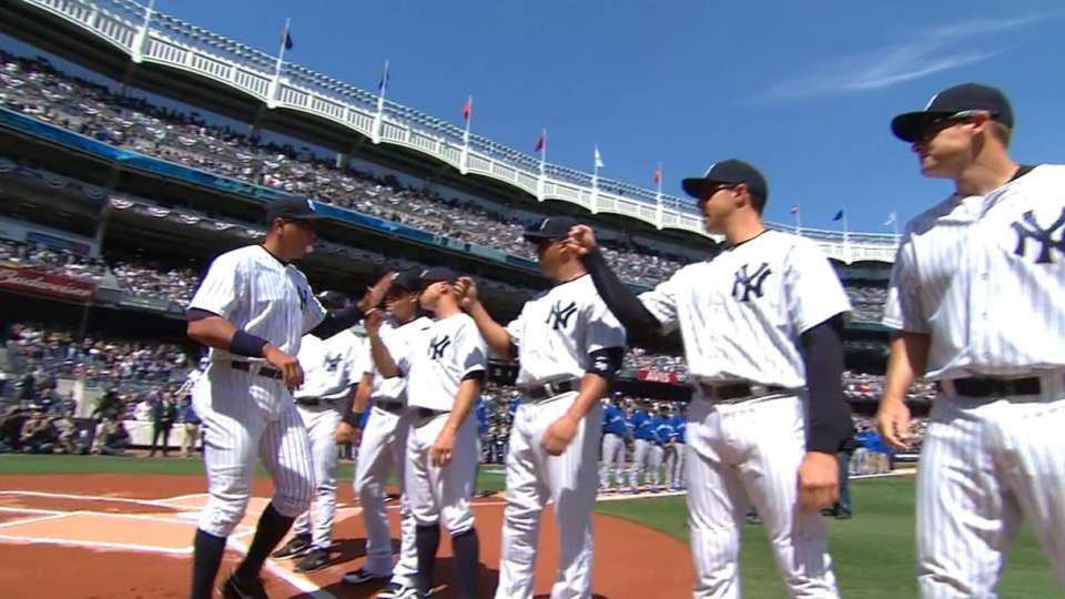 Yankees starters introduced