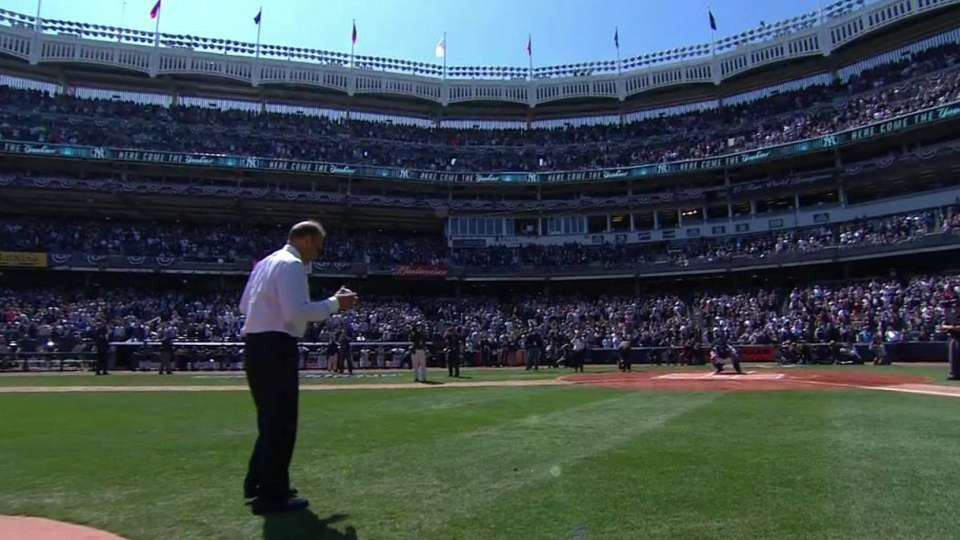 Torre's ceremonial first pitch
