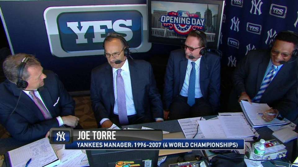 Torre joins Yankees' booth