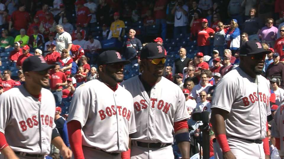Red Sox starters introduced