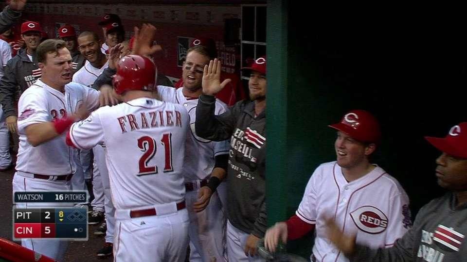 Frazier's three-run blast
