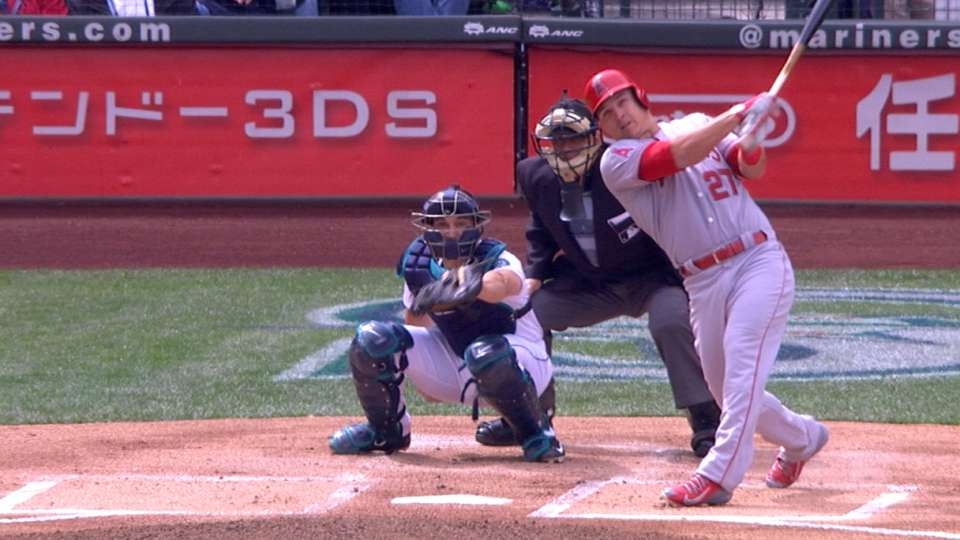Trout's Opening Day homers