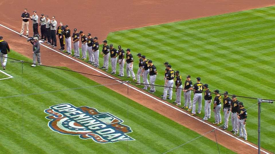 Pirates starters introduced