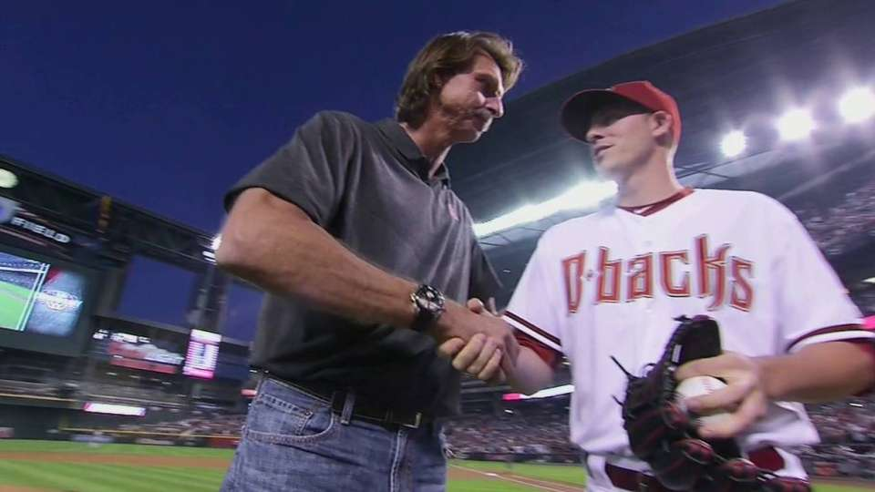 Big Unit throws out first pitch
