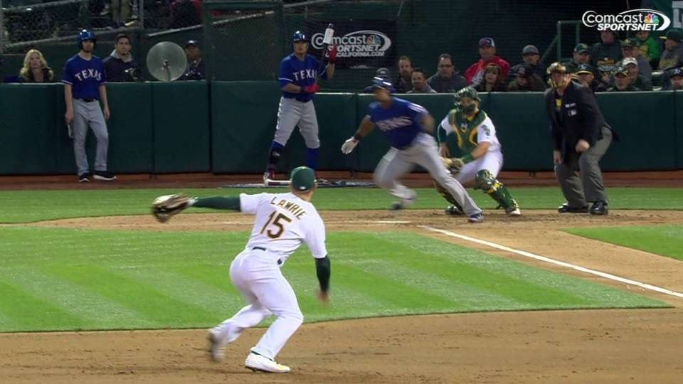 Lawrie's charging play