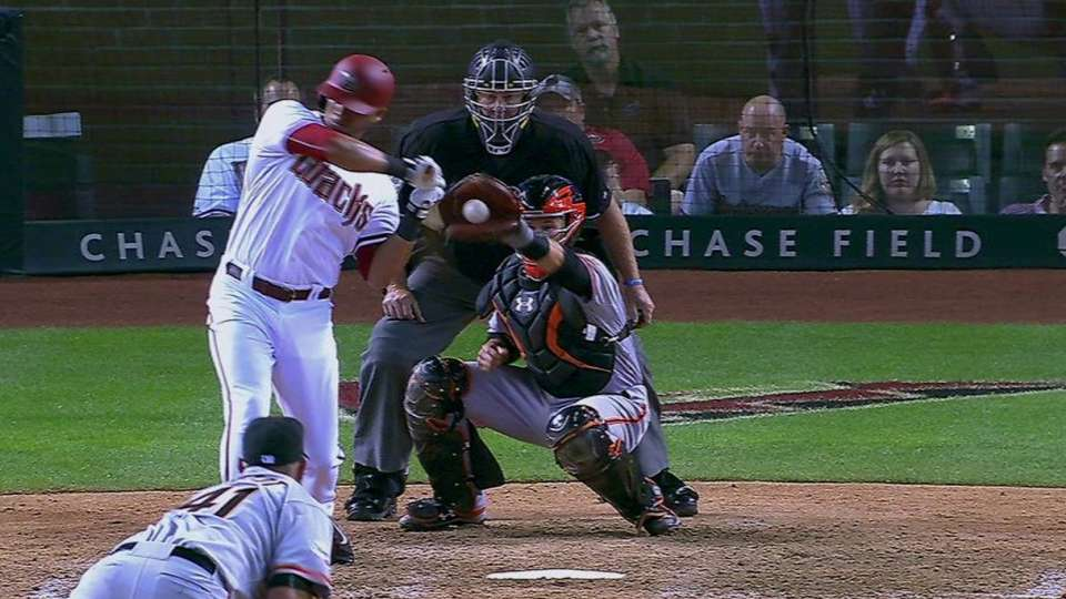Peralta's foul-tip reviewed